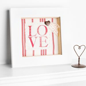 Linen Anniversary Love Fabric Artwork