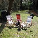 Personalised recycled sailcloth children's deckchairs