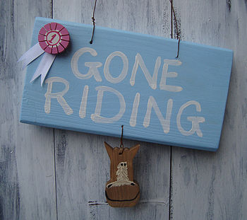 gone riding_pale blue with pink rosette