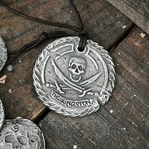 'The Kingston' Personalised Pirate Medallion - children's jewellery