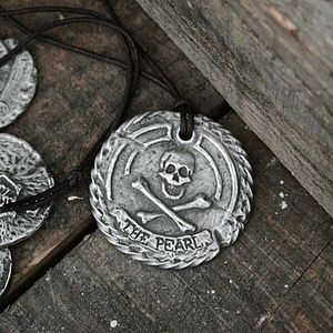 'The Pearl' Personalised Pirate Medallion - children's jewellery