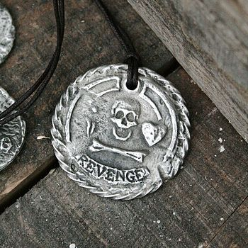 'Revenge' Personalised Pirate Medallion