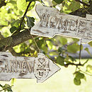 Wooden Carved 'Garden And Home' Sign