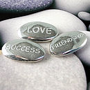 Three Tiny Message Pebbles Keepsake Gift