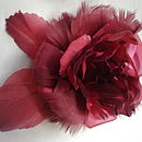 Vintage red flower corsage