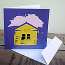 Beach house design card