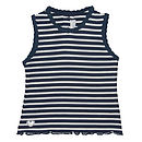 French Design Navy Striped Cardigan Vest Set