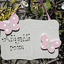 Personalised Double Butterfly Door Sign
