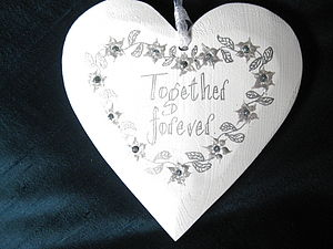 Personalised Wedding Heart - table decorations