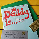 Personalised 'Daddy is…' Birthday Card