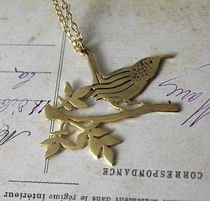 Gold/Silver Wren Necklace