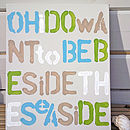 Oh I Do Want To Be Beside The Seaside Canvas