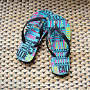 Personalised My Flip Flops Aqua