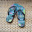 Personalised My Flip Flops Aqua