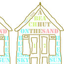 Noths fathers day card beach huts:2