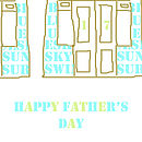 Noths fathers day card beach huts:3