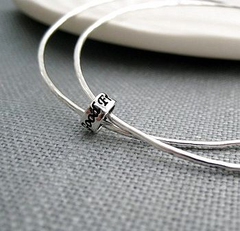 'Just Saying' Sterling Silver Double Bangle