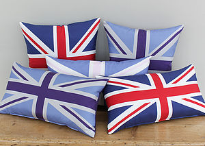 Silk Twill Union Jack Cushion