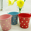 Tiny dotty buckets s/3