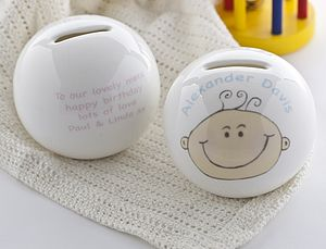 Personalised My First Money Box - christening gifts
