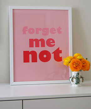 'Forget Me Not' (Colour Block) Screen Print