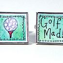 Golf mad cufflinks