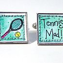 Tennis mad cufflinks