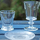 French Bee Embossed Glasses