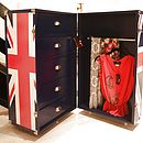 Union Jack Trunk On Wheels / Mini Walk In Wardrobe