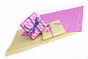 Handmade Paper and Ribbon Gift Wrap Set - wedding cards & wrap