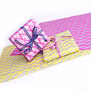 Handmade Paper and Ribbon Gift Wrap Set