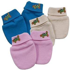 Organic Cotton Baby Scratch Mittens