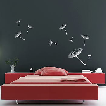 Floating Dandelions Wall Stickers