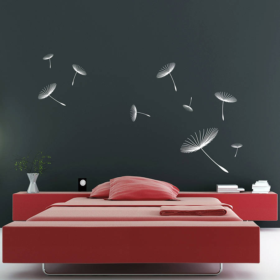 Floating dandelions wall stickers by zazous notonthehighstreet floating dandelions wall stickers amipublicfo Images