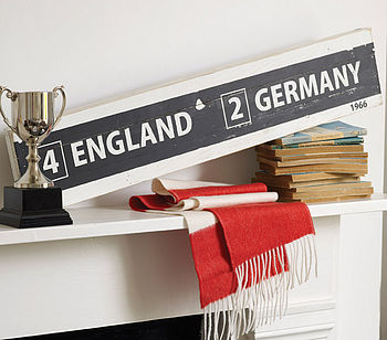 World Cup Wooden Sign