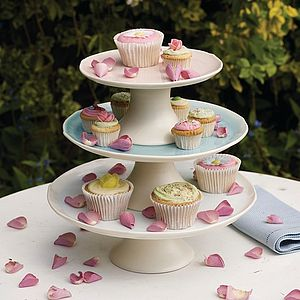 Porcelain Tiered Cake Stand - dining room