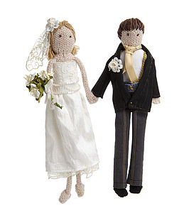 Personalised Bride And Groom Dolls