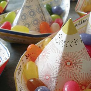 Pack Of Eight Paper Boats - table decorations