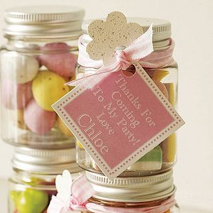 Personalised Thank You Sweetie Jars X5 - table decorations