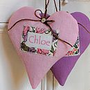 Personalised Linen Name Heart