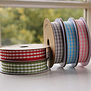 Gingham Cotton Ribbon