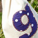Purple and white spot applique
