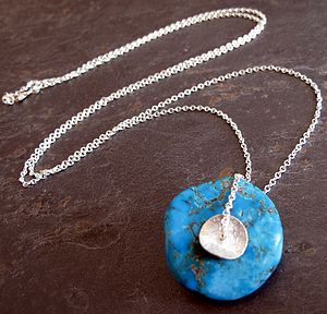 Five Elements Turquoise Silver Necklace - women's jewellery