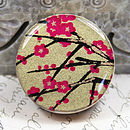 Hot Pink Golden Boughs Brooch