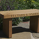 Engraved Couple's Bench