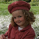 Pretty Princess Beret in Dusty Rose Pink