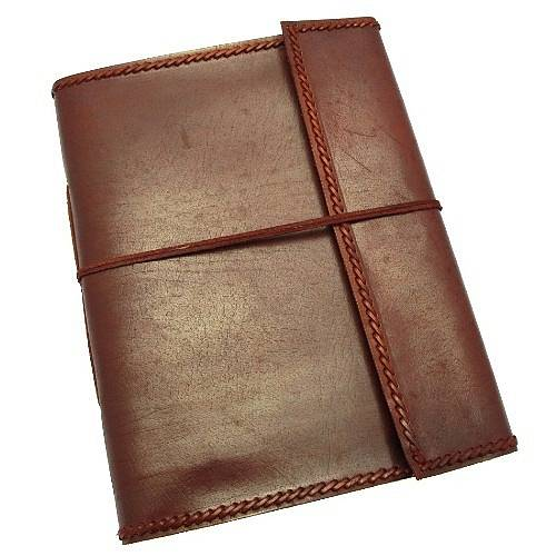 handmade leather photo album by paper high. Black Bedroom Furniture Sets. Home Design Ideas
