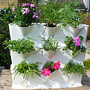 Three Vertical Stacking Planters