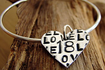 Personalised Special Occasion Heart Bangle