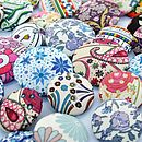 Hand Covered Liberty Print Fabric Buttons